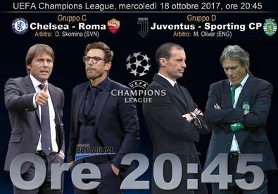 Champions, Chelsea-Roma e Juventus-Sporting (ANSA)