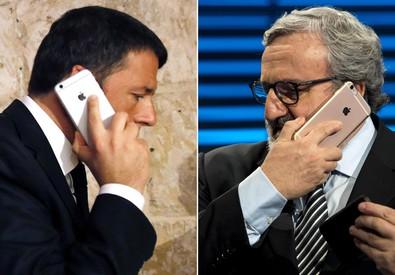 Matteo Renzi e Michele Emiliano in una elaborazione (ANSA)