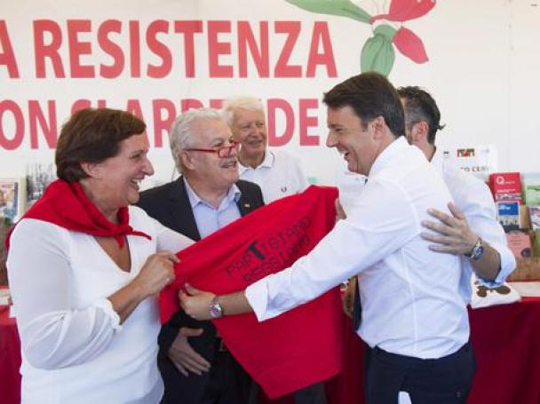 Matteo Renzi alla Festa dell'Unità/ Foto Tiberio Barchielli © ANSA