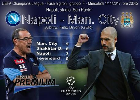 Champions League, Napoli-Manchester City © ANSA