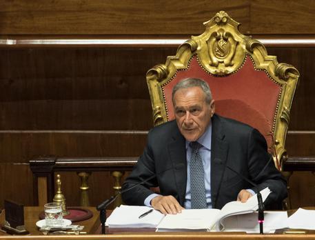 Il presidente del Senato Pietro Grasso in una foto d'archivio © ANSA