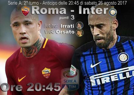 Serie A, Roma-Inter (elaborazione) © ANSA
