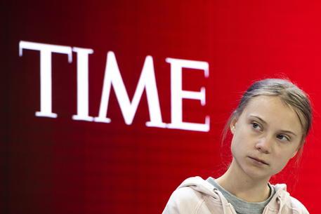 Greta Thunberg al Forum di Davos © EPA