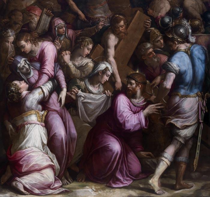 """Risultati immagini per L'opera del Vasari dal titolo """"Cristo incontra la Veronica sulla via del Calvario"""""""
