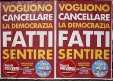 A Roma affissi manifesti su esclusione Pdl/FOTO