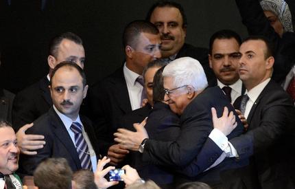 La gioia di Abu Mazen