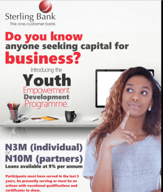 Sterling Bank Youth Entrepreneurship Development Programme