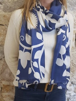 Foulard en Soie « Baltic Blue »