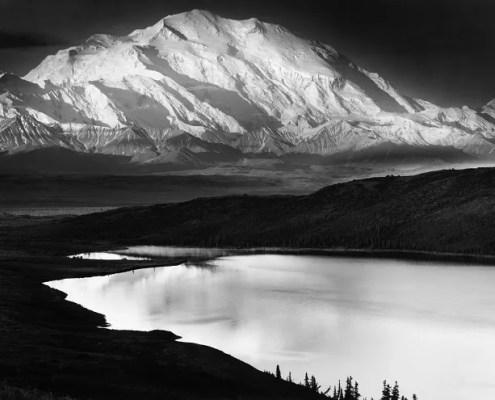 Mount McKinley at Wonder Lake by Ansel Adams