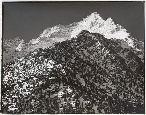 Scan of proof print of Lone Pine Peak