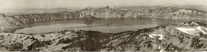 First_Photo_Showing_Entire_Crater_Lake,_from_Mt._Scott_-_1903