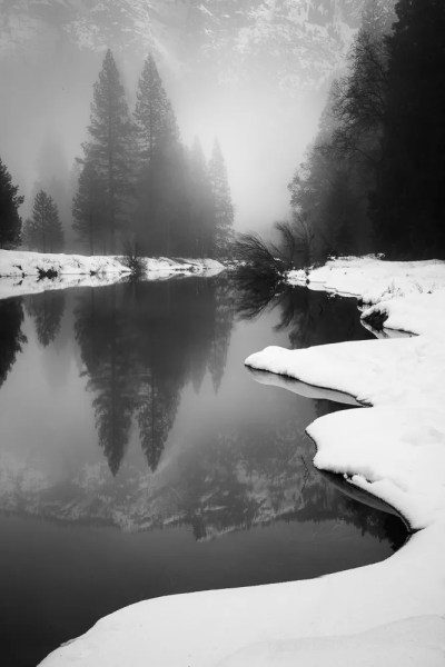 Quiet River, Winter, Yosemite