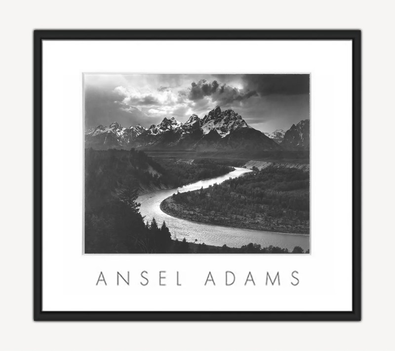 Tetons and Snake River Poster by Ansel Adams