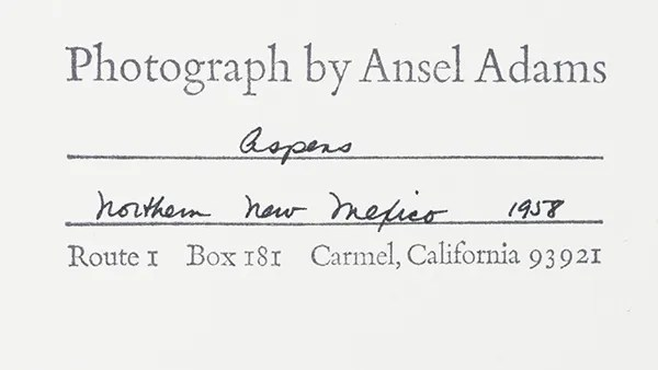 ansel adams original photograph stamp