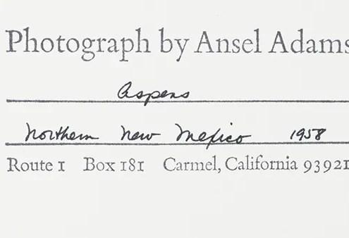 ansel adams original photograph stamp