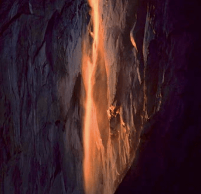 "Galen Rowell, ""Last Light on Horsetail Fall"""