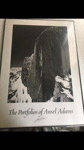Signed Ansel Adams Poster
