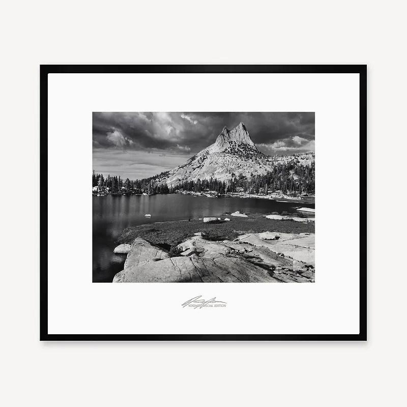 Cathedral Peak and Lake, Black Frame