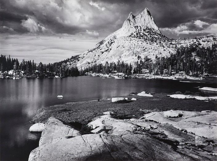 Cathedral Peak and Lake by Ansel Adams