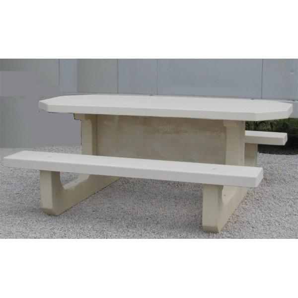 table pique nique octogonale pmr