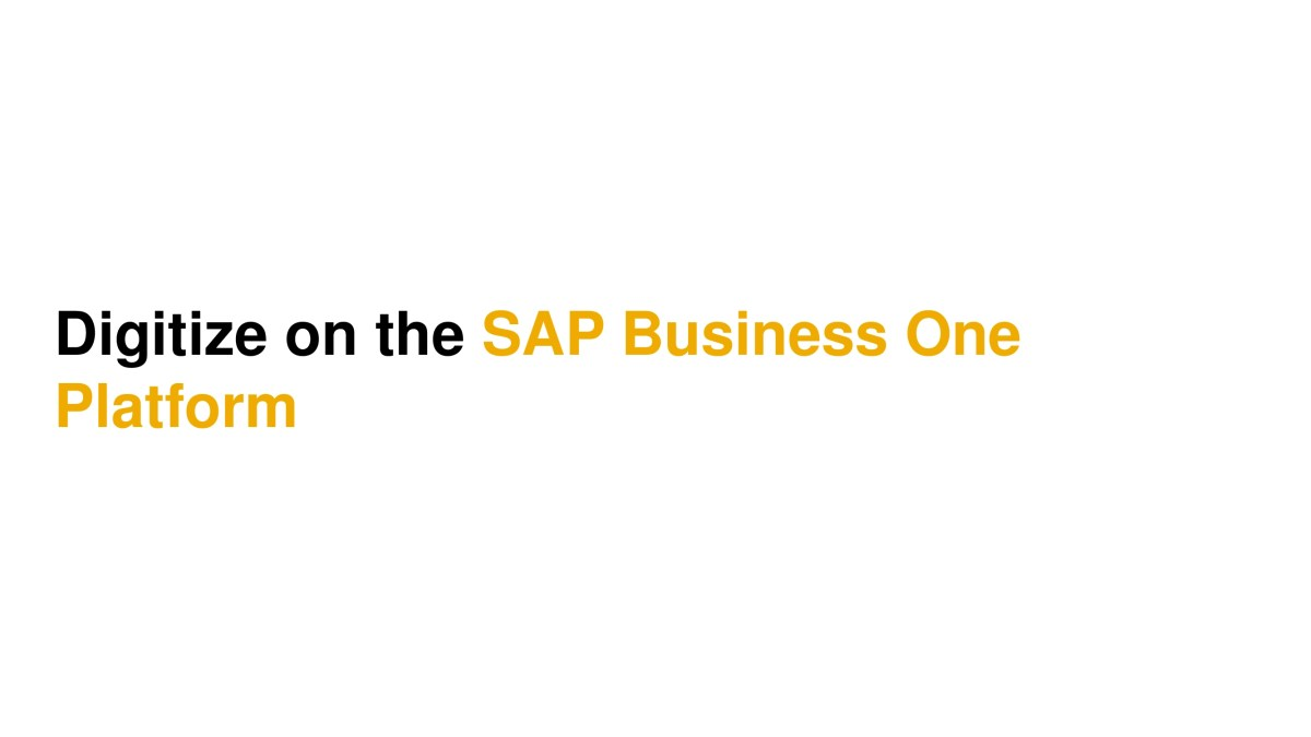 SAP Business One 5