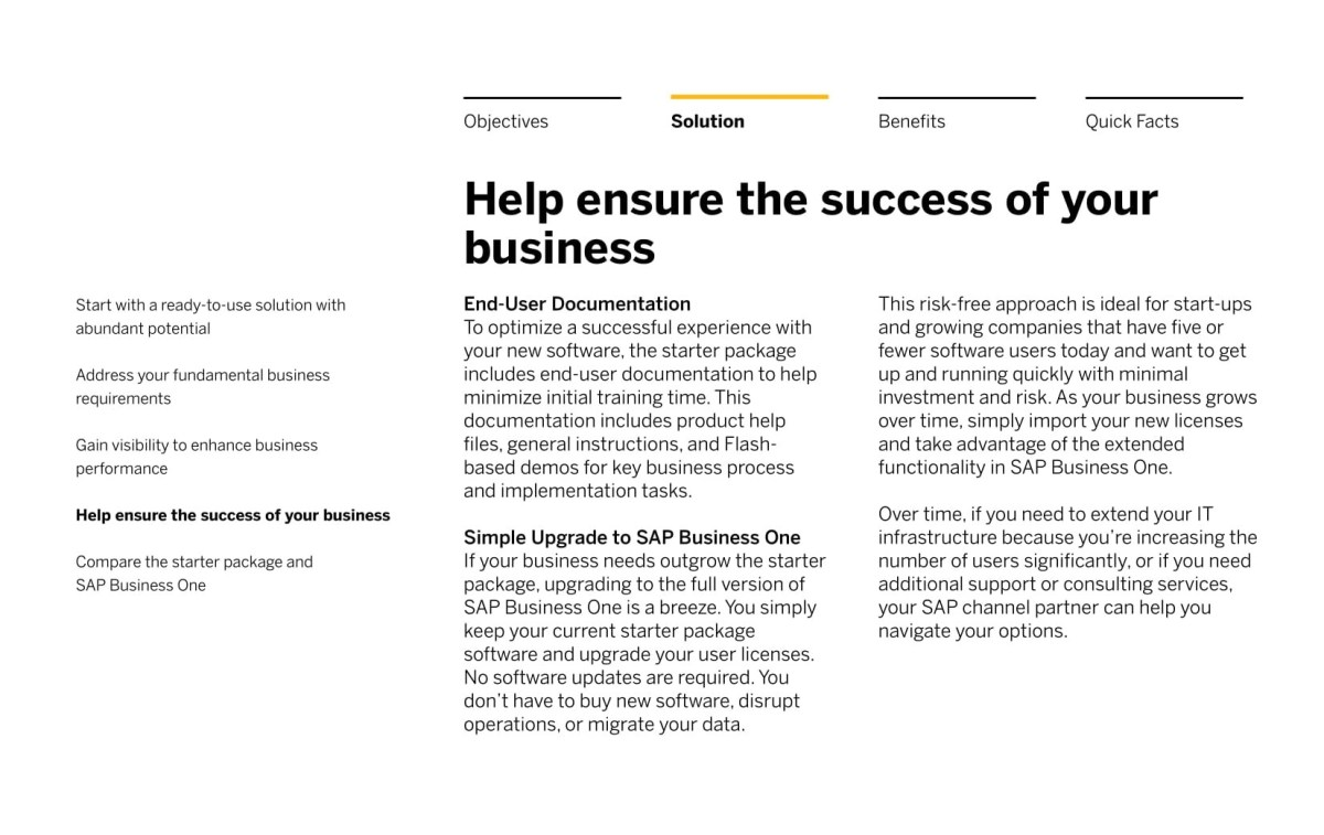 SOLUTION BRIEF Get Growing with the SAP Business One starter package-06
