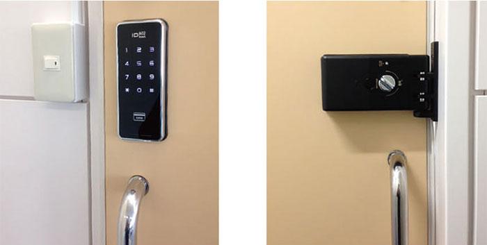 ロックマンジャパン デジタルドアロック ID-602Bhook (引戸対応型)