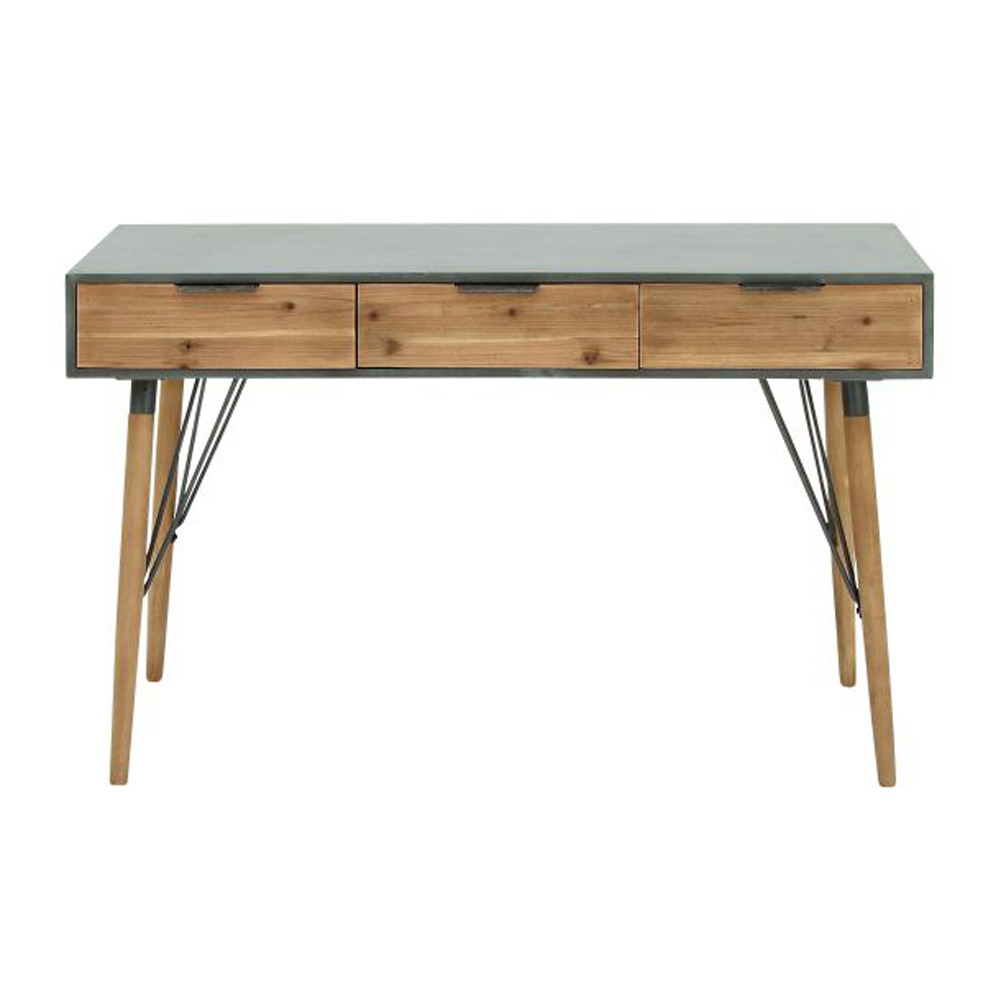 Modern wood console table grey cypress ansons furniture modern wood console table geotapseo Gallery