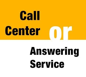 Difference between call center and answering service
