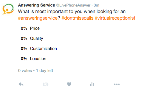 Answering Service Care Twitter Page