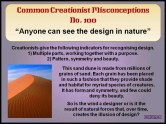 Creationist Misconceptions No. 100 - Design