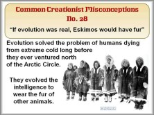 Creationist Misconceptions No. 28 - Eskimos