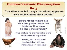 Evolution is racist!