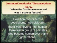 Creationist Misconceptions No. 34 - Male or Female
