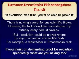 Creationist Misconceptions No. 36 - No Proof