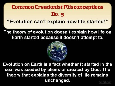 Abiogenesis Life's Origin not evolution