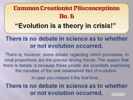 Creationist Misconceptions No. 6 - Evolution is in crisis