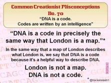Creationist Misconceptions No. 70 - DNA is a code
