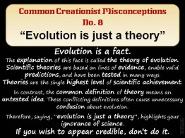 Creationist Misconceptions No. 8 - Just a theory