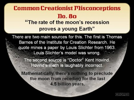 Creationist Misconceptions No. 80 0 The moon's recession