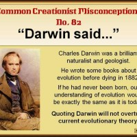 Common Creationist Misconceptions - Darwin