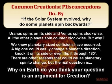 Creationist Misconceptions No. 87 - Planetary spin