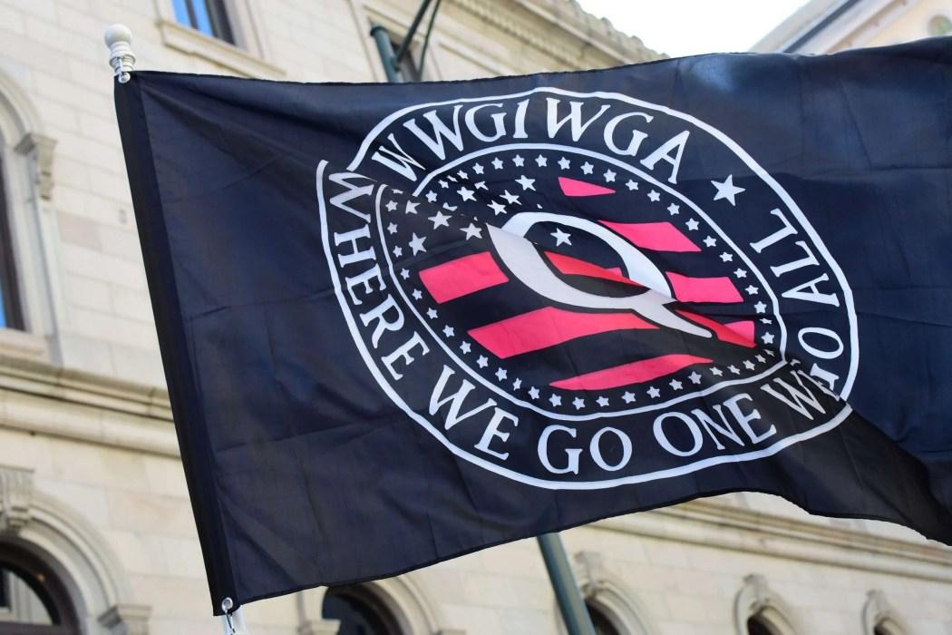 QAnon flag in Richmond, Virginia, January 2020 | Image courtesy of Anthony Crider via Creative Commons