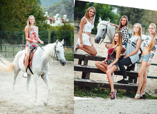 Güzeller Berke At Çiftliği'nde stres  attı
