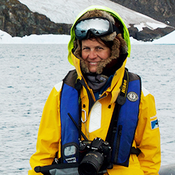 Verónica Ibáñez, Expedition Guide and Photographer, in Antarctica21's Expedition team