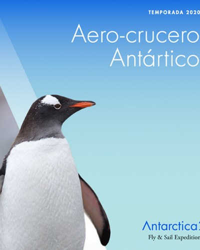 2020-21 Antarctic Air-Cruise brochure by Antarctica21, Spanish version.