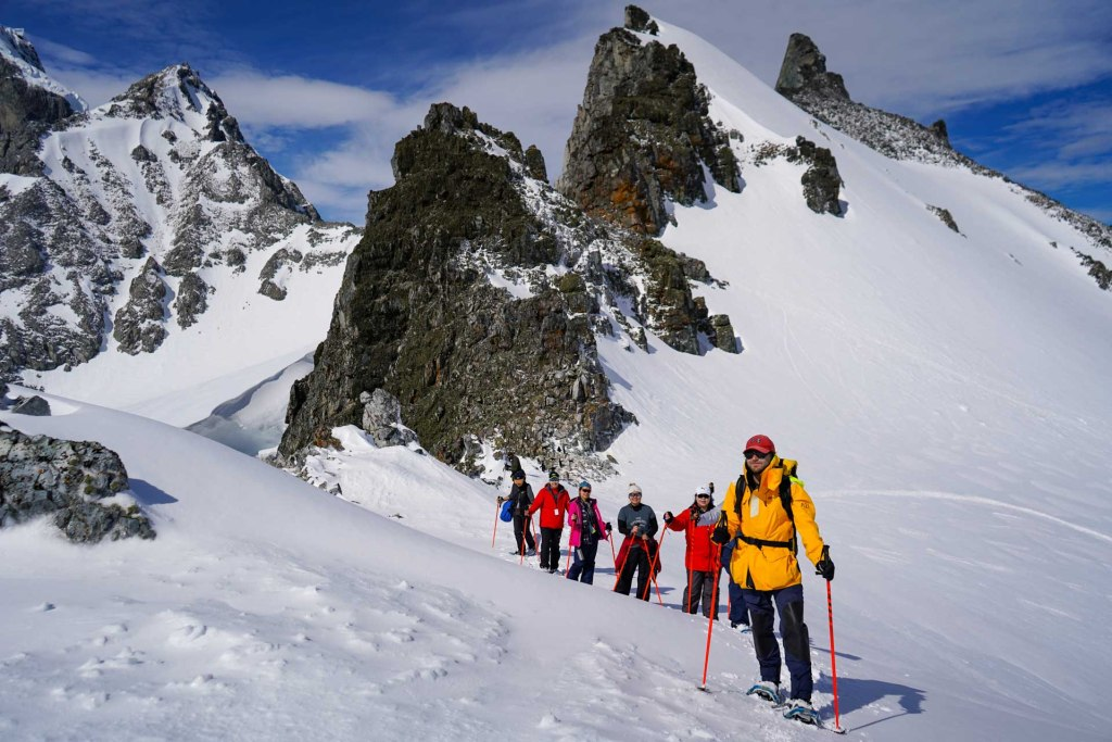 Hiking & Snowshoeing in Antarctica. Photography by Ana Carla Martínez.