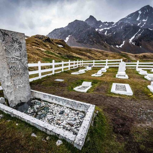 Ernest Shackleton's grave in South Georgia. Photography by Rodrigo Moraga.