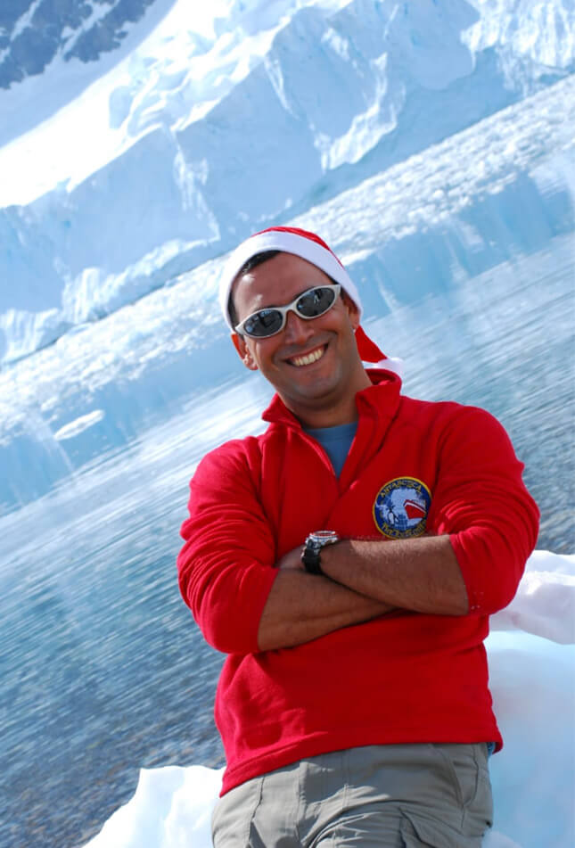 Andre Belen, 10 years ago, when he started at Antarctica21
