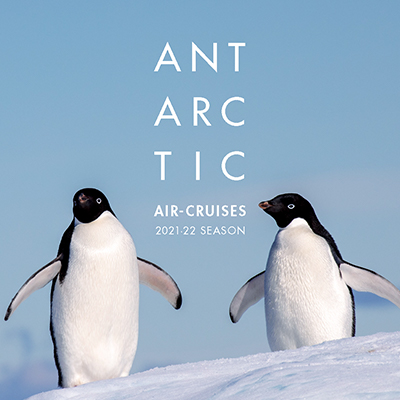 Antarctic Air-Cruises, 2021-22 Season, brochure cover